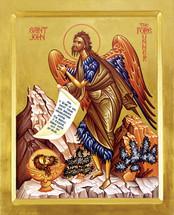 Icon of St. John the Baptist - 20th c. - (1JB22)