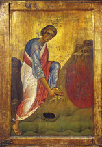 Icon of the Prophet Moses and the Burning - 13th c. Mt. Sinai - (1MO41)