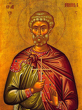 Icon of St. Menas the Great-Martyr - (1ME20)