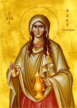 Icon of St. Mary of Bethany (the Sister of Lazarus and Martha) - 20th c. - (1MA53)