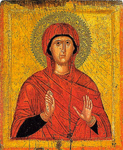 Icon of St. Marina - 15th c. Cretan - (1MA40)