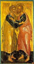 Icon of Sts. Peter & Paul - 15th c. Cretan - (1PP10)