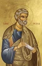 Icon of the Apostle Peter - Twelve Apostles Series - (1PE12)
