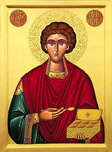 Icon of St. Panteleimon - 20th c. (1PA11)