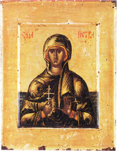 Icon of St. Petka (Paraskeva of Trnovo) 16th c. Jovan - (SPA10)