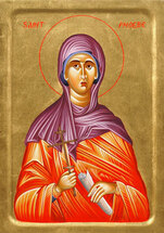 Icon of St. Phoebe - 20th. c - (1PB11)