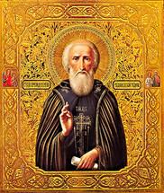 Icon of St. Sergius of Radonezh - 18th c. Russian - (1SE40)
