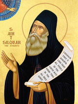 Icon of St. Silouan the Athonite - 20th c. St. Anthony's Monastery - (1SI20)