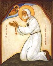 Icon of St. Seraphim of Sarov - 20th c. English - (1SE09)