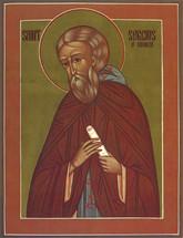 Icon of St. Sergius of Radonezh - 20th c. - English - (1SE41)
