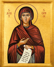 Icon of St. Sophia the Mother of Orphans - (1SO11)