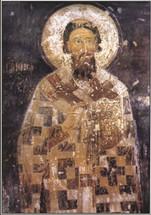 Icon of St. Sava - 15th c. Mileseva Monastery - (SSA10)