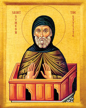 Icon of St. Symeon the Stylite - 20th c. - (1SY40)