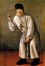 Icon of St. Seraphim Sarov - 19th c. Russian - (1SE13)