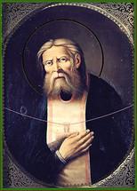 Icon of St. Seraphim Sarov - 19th c. Russian - (1SE12)