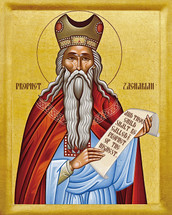 Icon of the Prophet Zachariah Father of the Forerunner - 20th c. - (1ZA10)