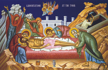 Icon of the Lamentation at the Tomb, 20th c. - (11J18)