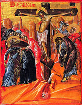 Icon of the Crucifixion - 18th c. Iveron Monastery - (11H08)