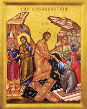 Icon of the Resurrection (Pascha, or Easter) - 20th c. - (11K11)
