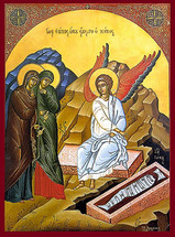 Icon of the Myrrh-Bearers at the Tomb - 20th c. - (11L10)
