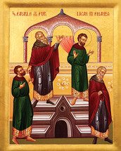 Icon of the Parable of the Publican & Pharisee - 20th c. - (11Q02)