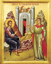 Icon of the Christ with the Samaritan Woman - 20th c. - (11L41)