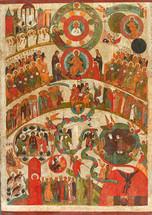 Icon of the Last Dreadful Judgment - 17th c. Novgorod - (11E02)