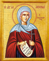 Icon of St. Athena - 20th c. - (1AT20)