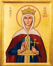 Icon of St. Alexandra - 20th c. - (1AL30)
