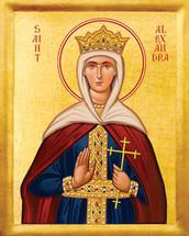 Icon of St. Alexandra - 20th c. - (1AL30)