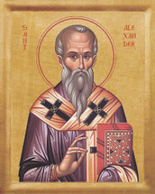 Icon of St. Alexander of Constantinople - 20th c. - (1AL20)