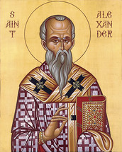 Icon of St. Alexander of Jerusalem - 20th c. - (1AL10)