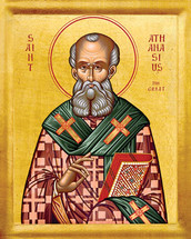 Icon of St. Athanasios the Great - 20th c. - (1AT10)