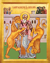 Icon of St. Ignatios (Ignatius) the God-Bearer - 20th c. - (1IG10)