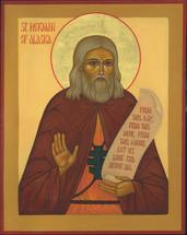 Icon of St. Herman of Alaska - English - (1HE06)