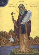 Icon of St. Herman of Alaska - 20th c. - (1HE05)