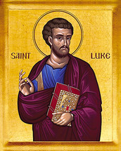 Icon of the Apostle and Evangelist Luke - English - (1LU32)