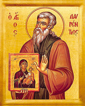 Icon of St. Laurence of Salamina - 20th c. - (1LA15)