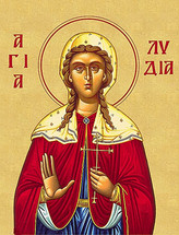 Icon of St. Lydia the Martyr - (1LY10)