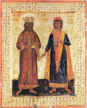 Icon of the Czar-Martyr Lazar and St. George the New - (SLG10)