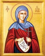 Icon of St. Olympias the Deaconess - 20th c. - (1OL11)