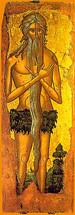 Icon of St. Onouphrios - 16th c. Cretan - (1ON10)