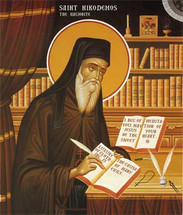 Icon of St. Nikodemos the Hagiorite - 20th c. - English - (1NI70)