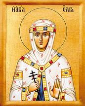 Icon of St. Olga - 20th c. - (1OL20)