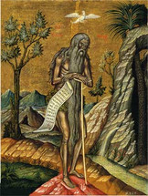 Icon of St. Onouphrios - 17th c. - (1ON12)