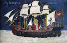 Icon of St. Nicholas - Protector of those at Sea - 17th c. - (1NI16)