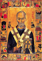 Icon of St. Nicholas of Myra - 13th c. Mt. Sinai - (1NI13)