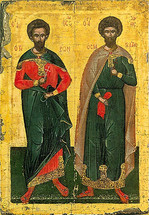 Icon of Ss. Theodore Stratilatis & Theodore Tyron - (1TH19)
