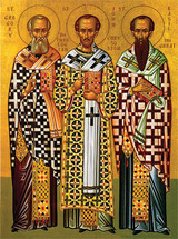 Icon of the Three Hierarchs - 20th c. - (1TH90)