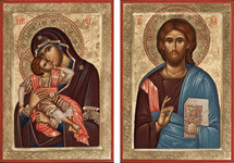Icon Set: Sweet Kissing Theotokos - (MCT07)